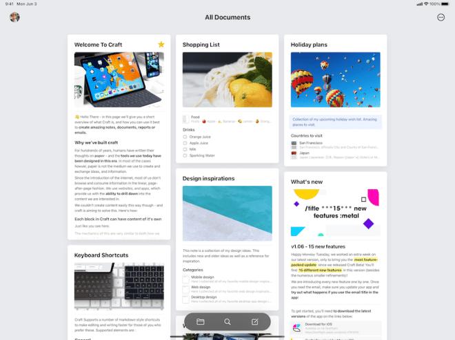 Craft ipad app