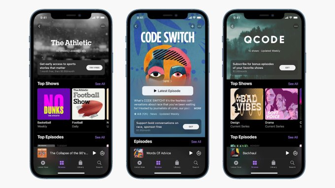 apple podcasts 2021