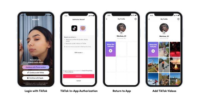 Четыре скриншота с новыми инструментами для разработчиков от ТикТок
