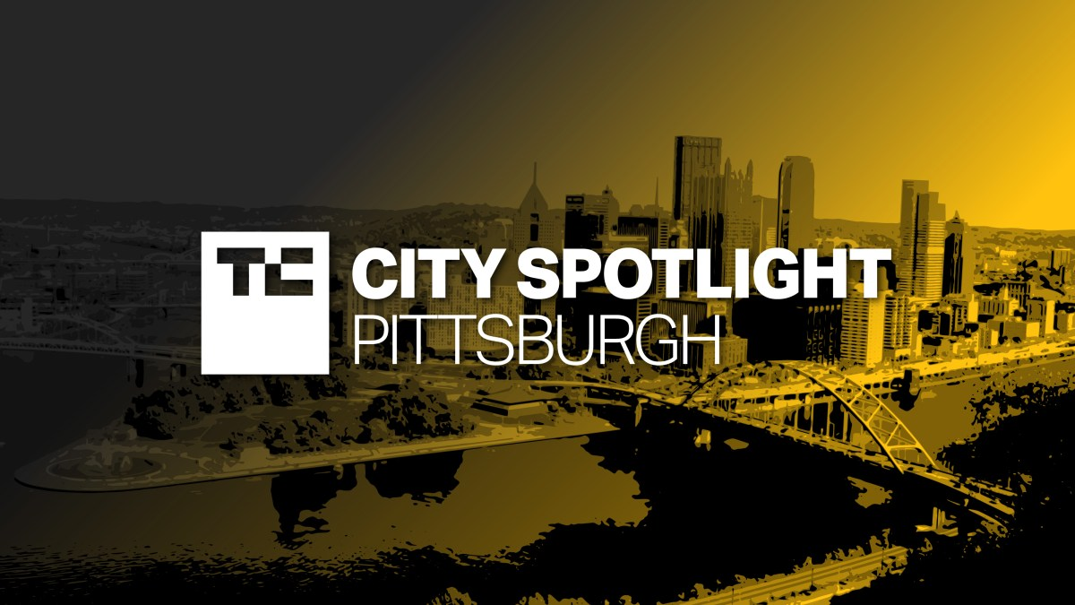TC City Spotlight: Pittsburgh. Background is black and yellow city skyline.