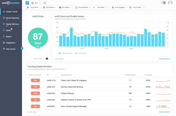 unitq product screenshot