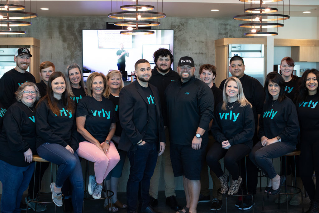 Founder Tyler Irons with his office team at Omaha Nebraska office