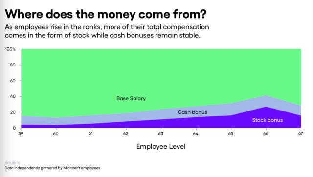 Microsoft Salay Cash Stock base pay
