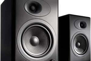 Audioengine A5 Plus Classic 150W Powered Bookshelf Speakers