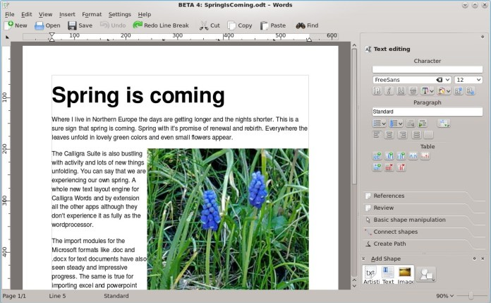 Calligra Office - Microsoft Word Alternatives