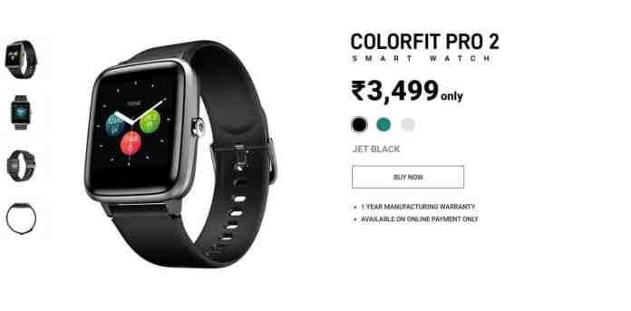 """colorfit pro 2 - """"Best Smartwatches Under Rs 3000"""""""