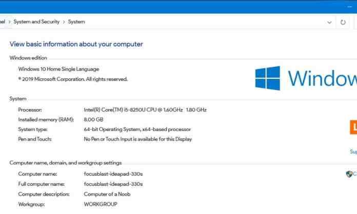 Windows Version