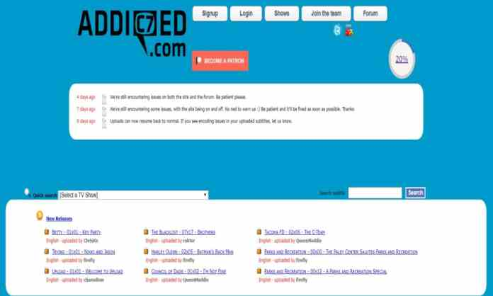 "Addic7ed - ""10 Best Sites To Download Subtitles For Movies For Free"""