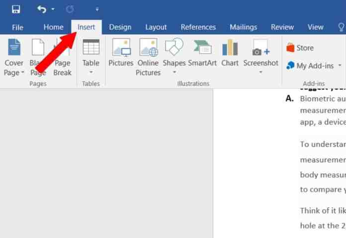 """Insert Tab - """"How to Insert A Signature In Word"""""""