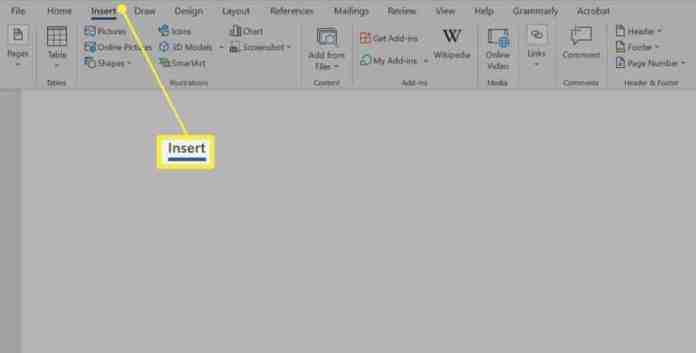 Use the Shapes Menu to Insert a Line in Word