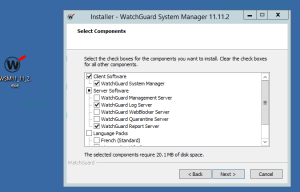 watchguard installation