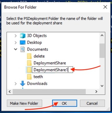 select-a-deploymentshare