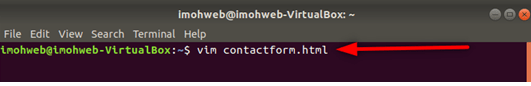 Launch-vim-editor