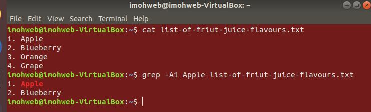 grep-A1-command