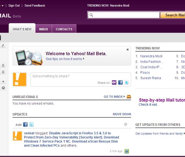 Try Yahoo Mail Beta