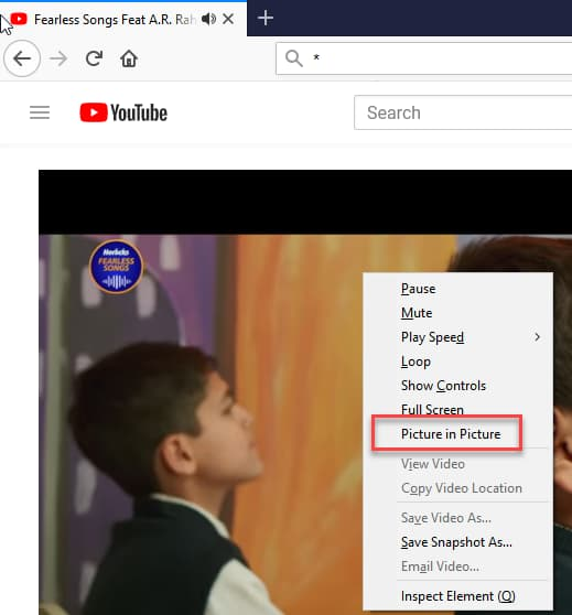 Try Picture In Picture Mode For Firefox In Nightly