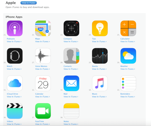 Apple made its stock apps available on the App store for the first time