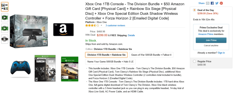 Xbox One - Prime Day Bundle