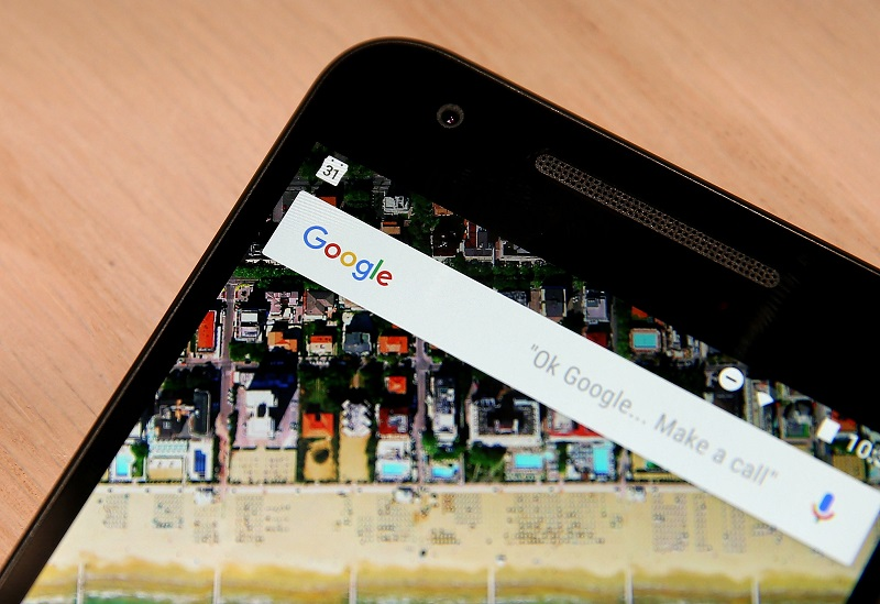 SAN FRANCISCO, CA - SEPTEMBER 29:  The Google logo is displayed on the new Nexus 5X phone during a Google media event on September 29, 2015 in San Francisco, California. Google unveiled its 2015 smartphone lineup, the Nexus 5x and Nexus 6P, the new Chromecast and new Android 6.0 Marshmallow software features.  (Photo by Justin Sullivan/Getty Images)