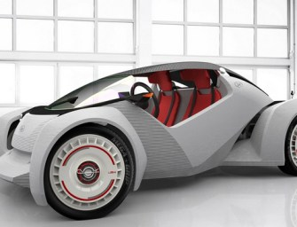 WORLD'S FIRST 3-D PRINTED CAR HITS THE STREETS