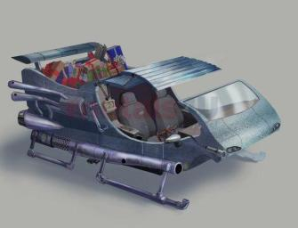 Modern Santa Sleigh Stocked With Rocket Boosters
