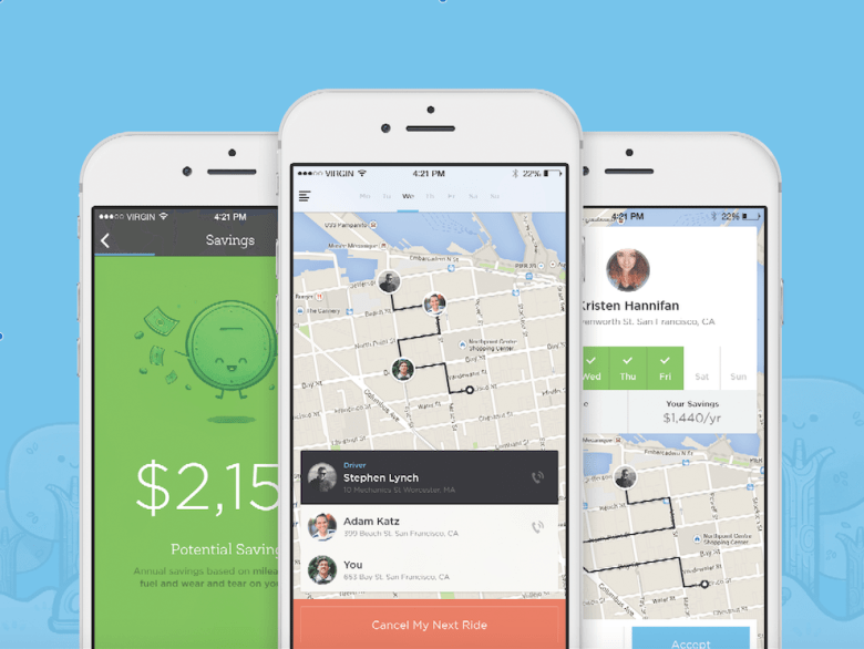 Uber S Co Founder Launches Carpooling App Ride Techdrive