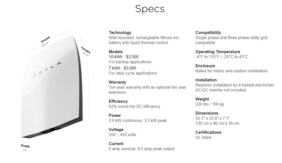 Tesla-Wall-Battery-Specs