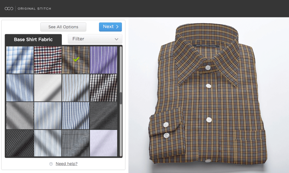 Over 300 high-quality fabrics let guys design any kind of dress shirt they can dream up.