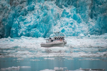 Boat in ice water