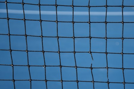 Net with broken string