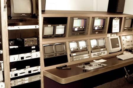 1960s TV control room