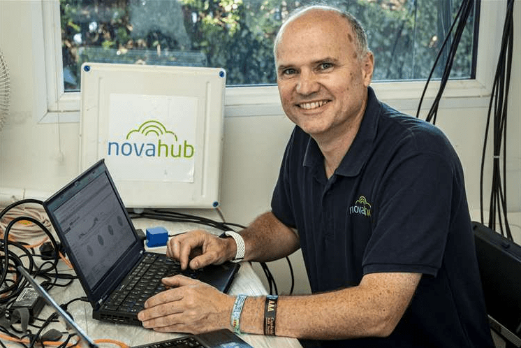 Cambridge Folk Festival 2019, Simon Osborne from Novahub providing the wifi for the site. Picture: Keith Heppell.