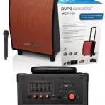 Pure Acoustics Portable Bluetooth Speaker, Karaoke Machine & Guitar Amp* with Wireless Mic