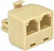 RJ11 (Phone) 2-Way Splitter Ivory