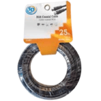 SD 25'/7.6M RG6 Coax Cable with Ends – Black