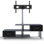 """32-55"""" 3-Tier Stand with Built-in Mount & Drawers"""