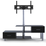 "32-55"" 3-Tier Stand with Built-in Mount & Drawers"