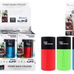 ITEK by Soundlogic Power Bank Speaker 2600mah Power Bank with High-Speed USB Charging Port & Built-in Bluetooth Speaker & Mic