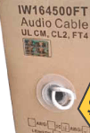 500′ IN-WALL 16AWG 4-Conductor Speaker Wire – UL CM, CL2, FT4