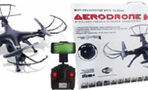 Tech Toyz Aerodrone WiFi Indoor/Outdoor 4Ch Quadcopter with Camera