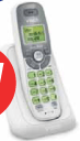 VTech 1 Handset Cordless Phone with DECT 6.0, Caller ID/Call Waiting – WHITE