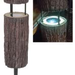 "Fusion 12.6"" Solar Bollard Tree Stump Light"