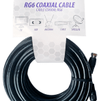 25'/7.6M TES RG6 COAXIAL CABLE