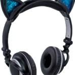 Feline Cat Ear Light-Up Premium Folding Headphones