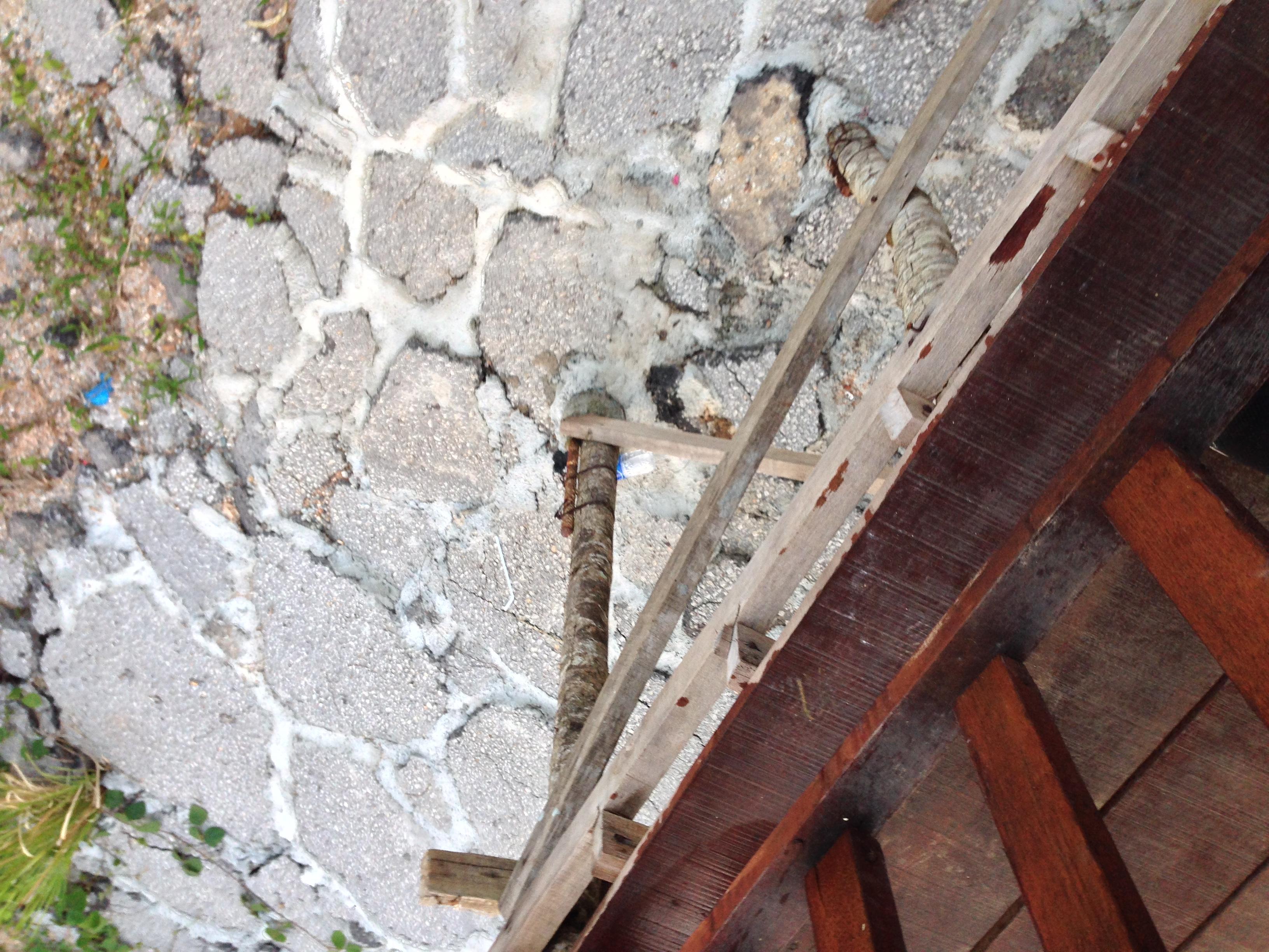 Paved floor below the vantage point
