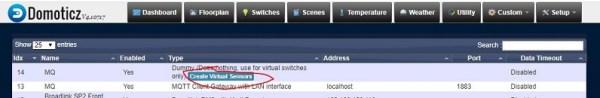 Add virtual sensor as digital representation of  C50W