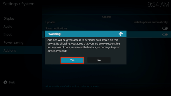 Enable Unknown Sources On Kodi 17 Step 5