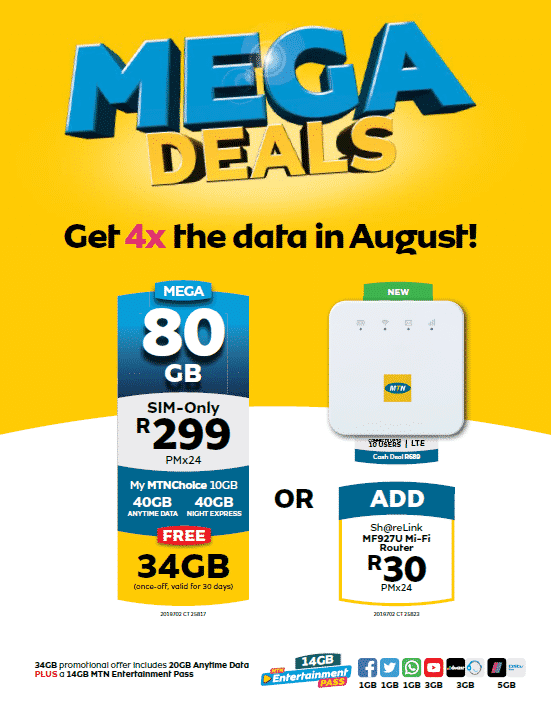 Mtn Introduces 80gb Mega Deal Promotion For R299pm