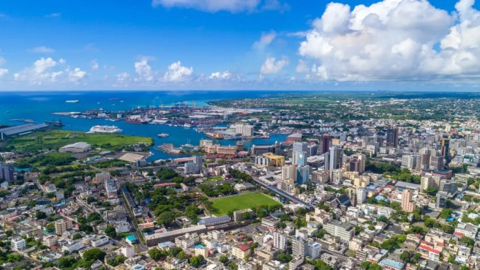birdview of Port louis during a sunny day