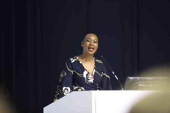 Communications and Digital Technologies Minister Stella Ndabeni-Abrahams